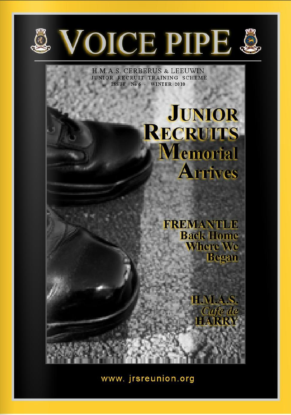 Junior Recruit Reunion Voice Pipe Issue 6