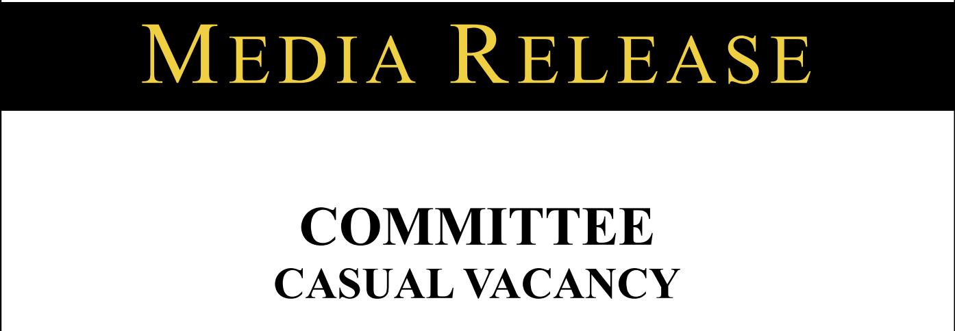COMMITTEE CASUAL VACANCY