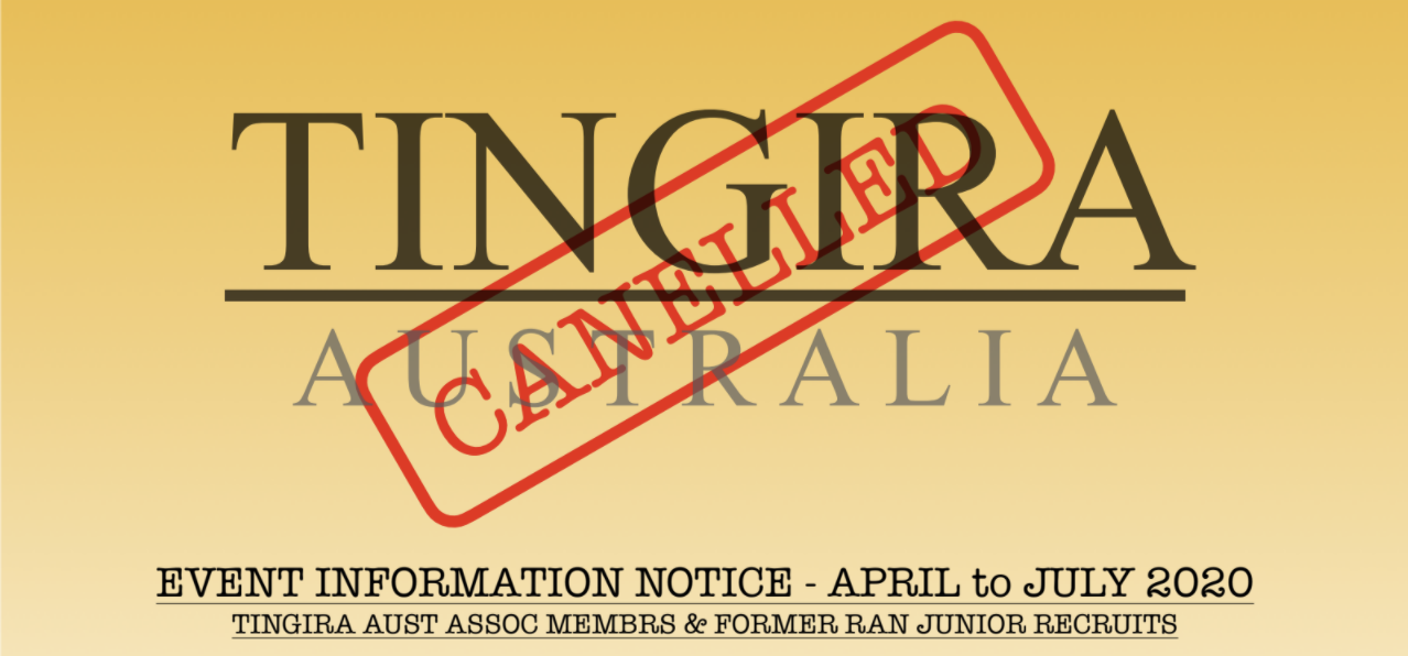 EVENT INFORMATION NOTICE – APRIL to JULY 2020