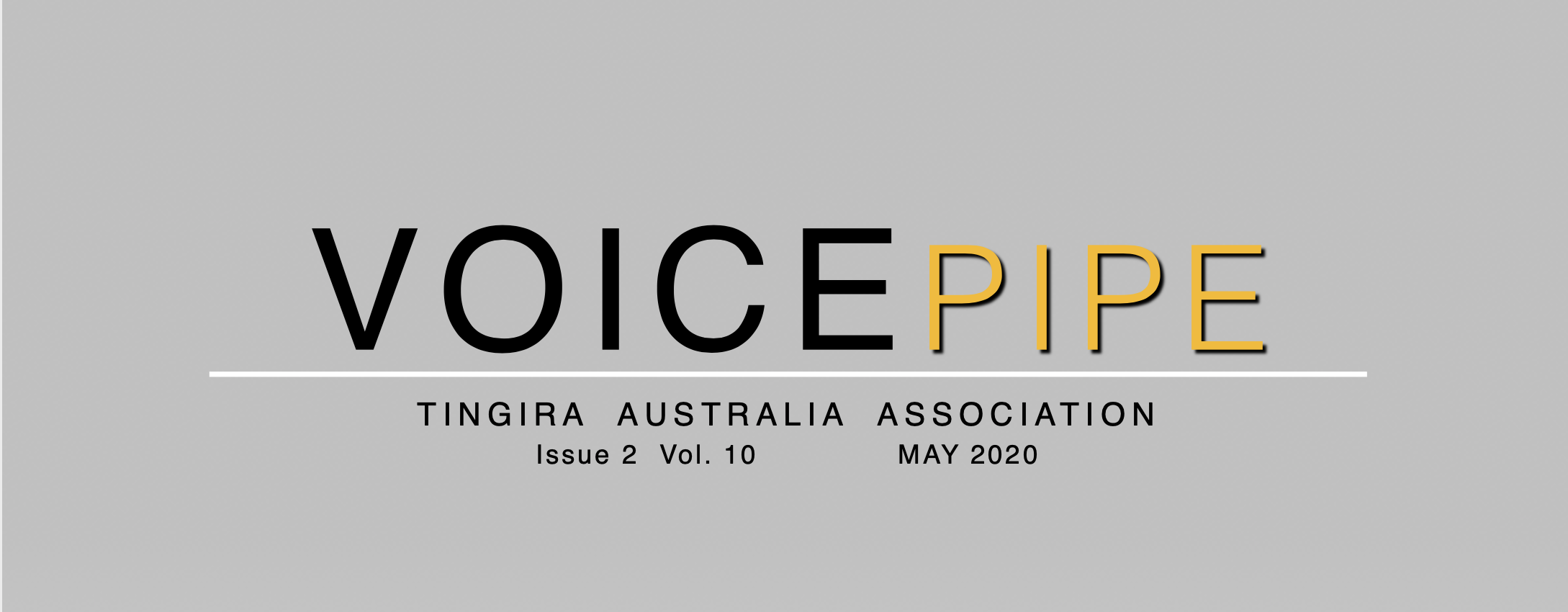 Voice Pipe May 2020