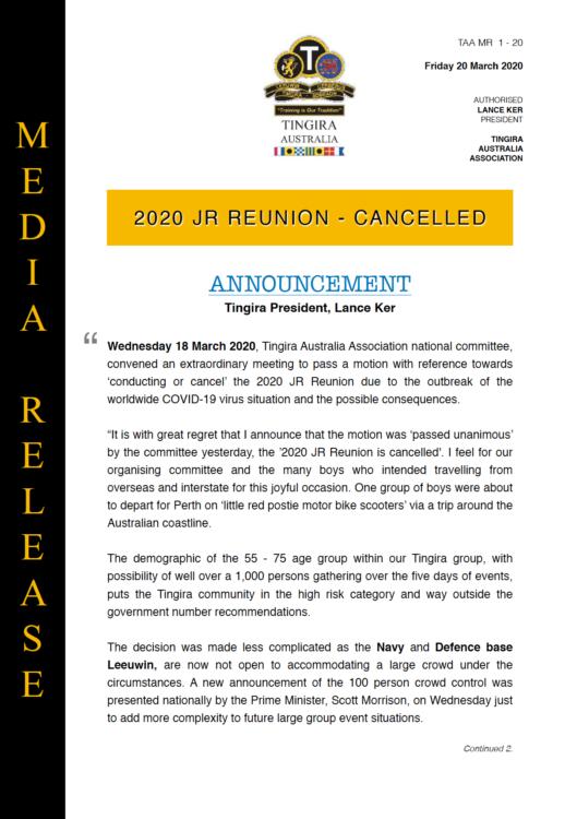 jr reunion media release