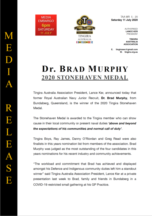 stonehaven medal