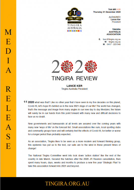 tingira year in review cover