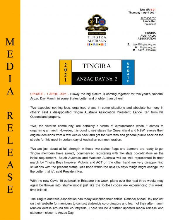 Media release No 4-21